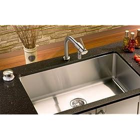 """23"""" Stainless Steel 1"""" Radius Small Corner Under Mount Kitchen Sink"""