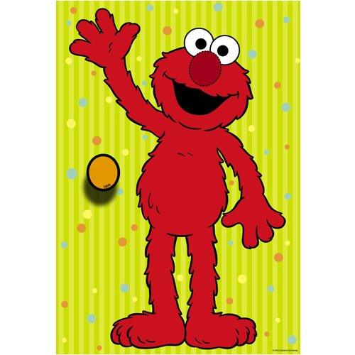 DesignWear Sesame Street ELMO Party Game (12 peel off Nose Stickers)