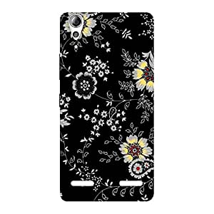 Delighted Classic Flower Back Case Cover for Lenovo A6000