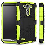 LG G3 Vigor Case, Sophia Shop 2 in 1 Heavy Duty Dual Layer Case with Built-in Kickstand, TANK Slim Fit Hybrid PC Hard Armor Back with Black Soft TPU Protective Cover Case for LG G3 Vigor 5 Inch Screen (Green)