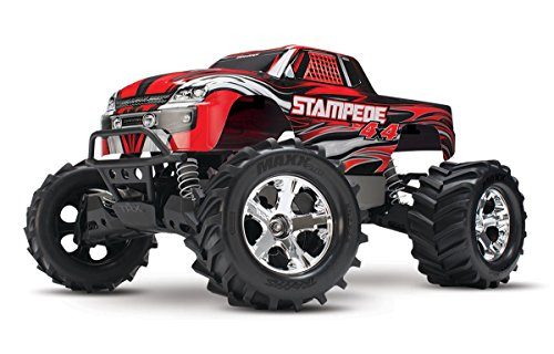 Traxxas Stampede 4X4: 1/10 Scale 4wd Monster Truck with TQ 2.4GHz Radio, Red (Rc Trucks 4x4 Waterproof compare prices)