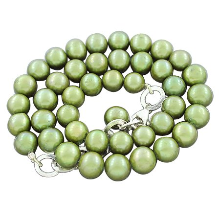 925 Sterling Silver Natural South Sea Pearl Gemstone Antique Style Designer Handmade Finding Beaded Beads Strand Necklace 19 Inches New Design Set Jewelry
