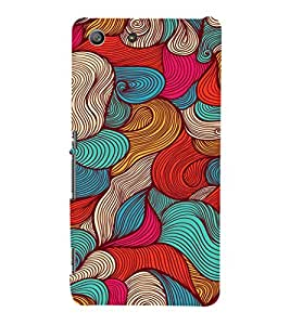 EPICCASE Threaded Pattern case Mobile Back Case Cover For Sony Xperia M5 (Designer Case)