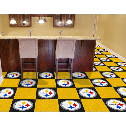 IFS - Pittsburgh Steelers NFL Team Logo Carpet Tiles at Amazon.com