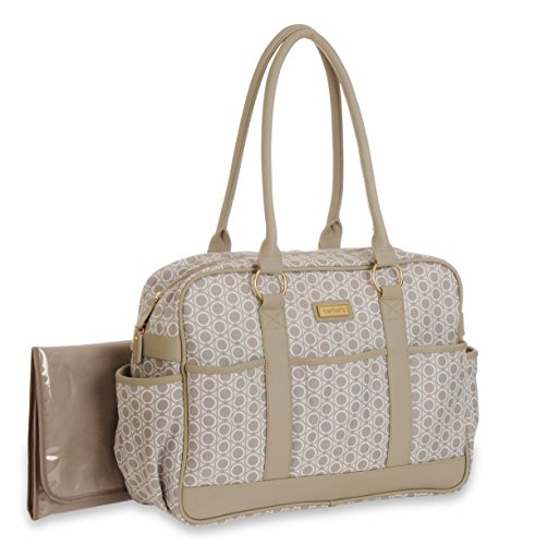 Carter's Classic Valise Diaper Bag, Tan - 1