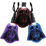 Kurt Adler UL 10-Light LED Multi Darth Vader Flat Helmet Light Set