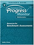 Common Core Progress Monitor Math Grade 7 Teacher's Edition