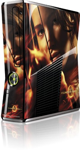 Skinit The Hunger Game -Katniss Bow & Arrow Vinyl Skin for Microsoft Xbox 360 Slim (2010)