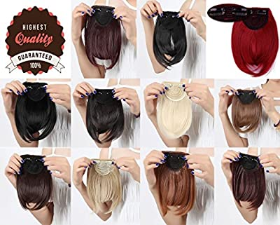 LAY Long Thick Straight 2 Clips Clip On Front Neat Bangs Hair Extensions 30g