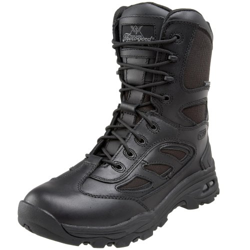 Thorogood 834-6329 Men's Visible Gel System 8-inch Waterproof Side Zip Boot Black 4 W US
