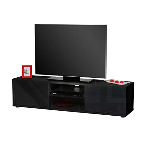 TV Lowboard in Schwarz Hochglanz 160 cm breit Pharao24