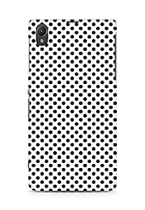Amez designer printed 3d premium high quality back case cover for Sony Xperia Z1 C6902 (polka dots)