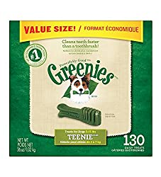 GREENIES Dental Chews TEENIE Treats for Dogs - Value Tub 36...