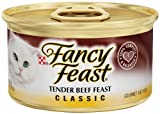 Purina Fancy Feast Wet Cat Food, Classic ,Tender Beef Feast, 3-Ounce Can, Pack of 24