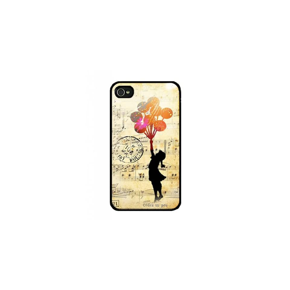 Wewe Banksy Balloon Girl2 Iphone 4 4s Case Cover, Cell Phone Hard Case with Unique Design