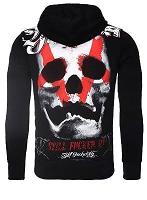 Yakuza Sweatshirt Sweater mit Kapuze Pullover Totenkopf Skull HOB-425