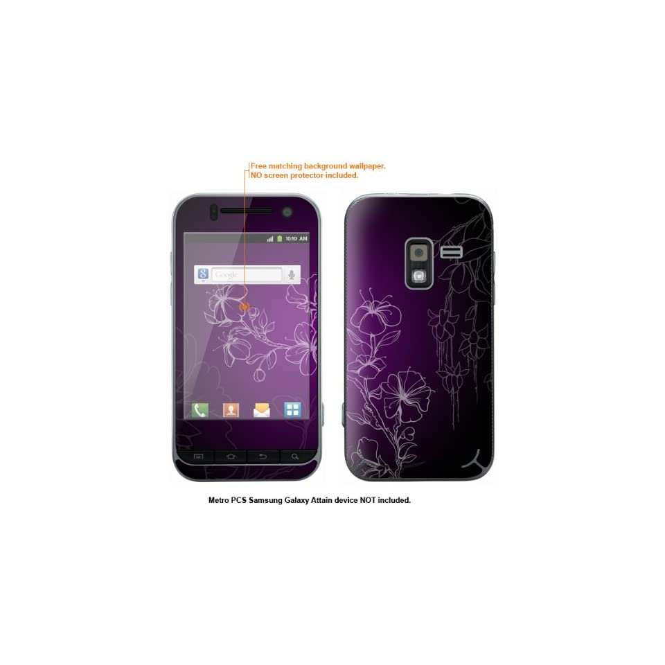 Protective Decal Skin Sticker for Metro PCS Samsung Galaxy Attain 4G case cover Attain 8