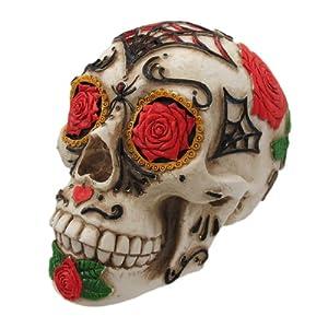 Amazon.com - Day of The Dead Dod Tattoo Sugar Skull Head ...