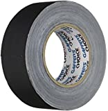Gaffer Tape 2 inch x 60 yards (THE LONGEST ROLL AVAILABLE) by GAFFER'S CHOICE, Professional Grade Heavy Duty Cloth Matte Gaff Tape (Black), Versatile and Safer Than Duct Tape, Satisfaction Guaranteed Risk Free Purchase!