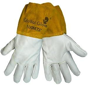 Global Glove 100MTC Cow Grain Kevlar Sewn Mig Tig Welder Glove, Work, Small (Case of 72) from Global Glove