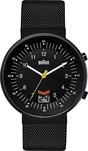 Braun BN0087BKBKMHG - Reloj analógico de cuarzo para hombre con correa de acero inoxidable, color negro