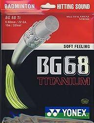 Yonex BG 68 Titanium Badminton Strings, 0.68mm (Yellow)
