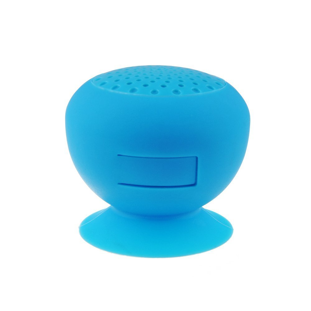 AFUNTA Bluetooth Waterproof Cordless Mini Mushroom Wireless Speaker with Suction Cup MIC Compatible with Apple iphone 4/4S, iPhone5/5S, ipad ipod, Sumsang galaxy S3 S4 S5, Note2 Note3, Tablet PC and any Bluetooth Devices and All Android Devices Support B haloway party portable wireless bluetooth speaker with colorful led night light shaped tf stereo music adapter card usb fm radio support 3 5mm audio works with any bluetooth enabled device for apple iphone 5s 5c 5 4s 4 ipod ipad 4 3 2 ipad mini samsung