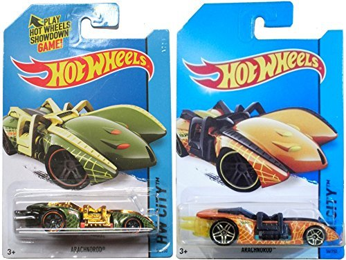 ARACHNOROD Hot Wheels Street Beasts Set 2014 #54 Variants IN PROTECTIVE CASES - 1