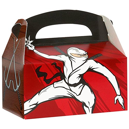 Ninja Warrior Party Empty Favor Boxes (4)