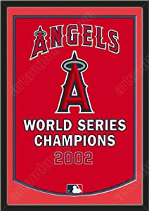 Dynasty Banner Of Los Angeles Angels With Team Color Double Matting-Framed Awesome... by Art and More, Davenport, IA