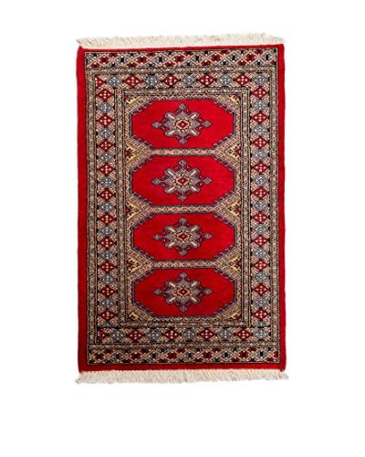 CarpeTrade Alfombra Kashmir Rojo/Multicolor