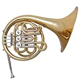 Mirage Single French Horn Outfit F Tuned With Deluxe Carry Case Gold Lacquered Finish