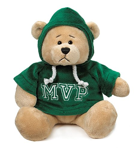"Ganz 9"" Mvp Hoodie Bear Plush Toy, Green - 1"