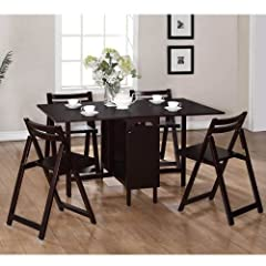 Linon Home Dcor 5-Piece Space Saver Table And Chairs Set