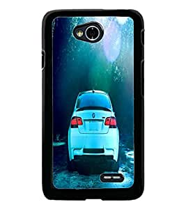 PrintDhaba Car D-2838 Back Case Cover for LG L90 (Multi-Coloured)