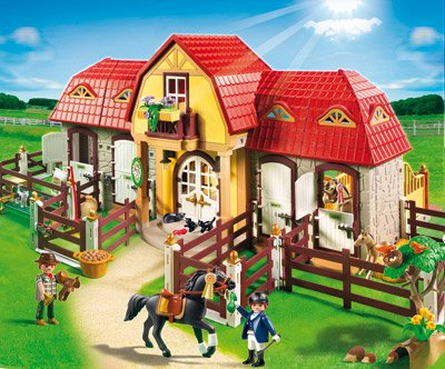 PLAYMOBIL&#174;-Gro&#223;er Reiterhof/Paddocks (5221) Neu !
