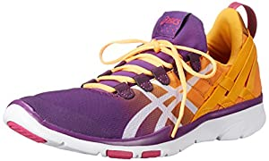 ASICS Women's GEL-Fit Sana Cross-Training Shoe, Purple Magic/White/Nectarine, 8.5 M US