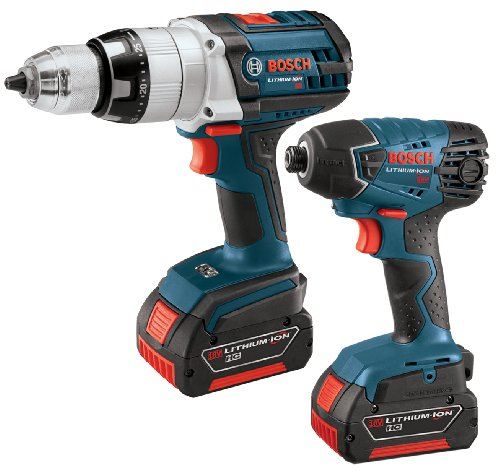 Bosch CLPK221-181 - 18V 2-Tool Kit, HDH181 - Hammer Drill/Driver and 25618 - Impact Driver with 2 FatPack HC Batteries