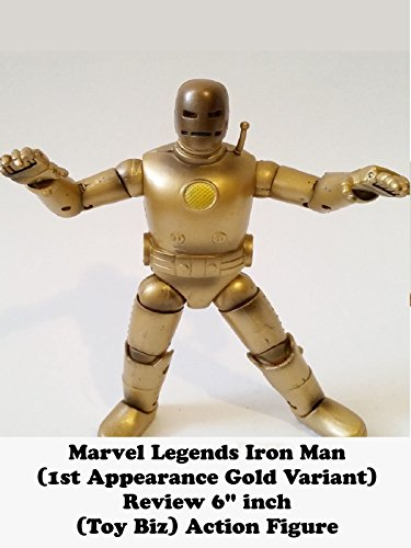 "Marvel Legends IRON MAN (First Appearance Gold variant) Review 6"" inch (Toy Biz) action figure on Amazon Prime Video UK"
