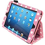 Kyasi Seattle Classic-iPad Mini 1/2 Case Cha Cha Pink Polka Dots