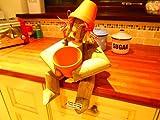 Flower Pot Lady Garden Ornament - Gardeners birthday present idea (Flower Pot Log Lady)