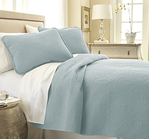 Southshore Fine Linens VILANO Springs - Modern Quilt Set, Sky Blue, King / California King (Modern Quilts King Size compare prices)