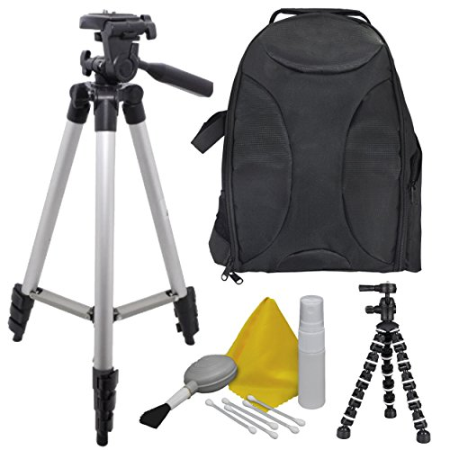 EXTREME-FUN-Camera-Accessory-Kit-for-Casio-Exilim-TRYX-Bundle-Includes-Back-Pack-50-Elite-Tripod-Camera-Cleaning-Maintenance-Equipment-8-BendiPod-Shop-Smart