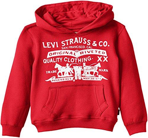 Levi's - Levi's® Sweatshirt, Felpa per bambini e ragazzi, rosso (red), 10 anni