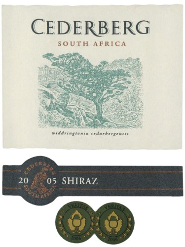 2005 Cederberg South Africa Shiraz 750 Ml