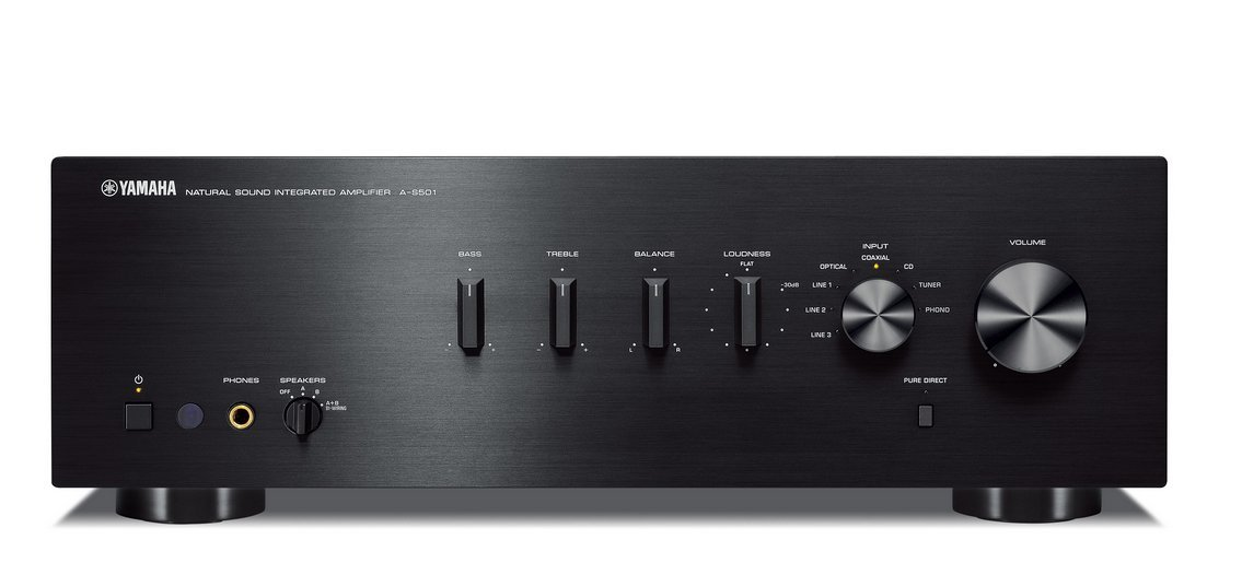 Yamaha AS501BLB 170W Integrated Stereo Amplifier - Black