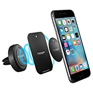 Car Mount, Spigen® [Air Vent Magnetic] Car Mount Holder [Quad Neodymium Core] Car Mount Phone Holder…