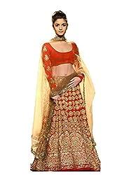 Krishna Emporia Women's Red Designer Lehenga Choli