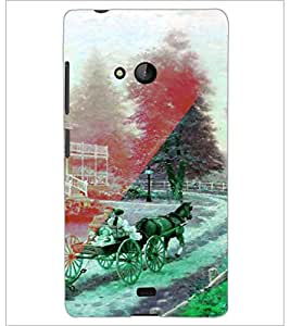 PrintDhaba Chariot D-4926 Back Case Cover for MICROSOFT LUMIA 540 (Multi-Coloured)