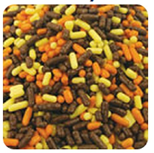 Oasis Supply Halloween, Fall, and Thanksgiving Sprinkle Shaped Cake Topper Quins, Autumn Mix, 6 Ounce